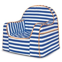 NEW Pu0027kolino Little Reader Toddler Chair   Blue Stripes. 8 Fabulous  Patterns And Personalization Available. Removable Easy To Clean Cover.