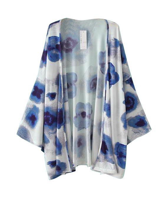Vintage Tie-dye Print Kimono