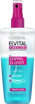 Für prachtvolles Haar: Elvital Fibralogy Doppel-Elixier besitzt eine pflegende Formel mit L-Siloxane. Sie sorgt für eine Substanzanreicherung Haar für Haar...