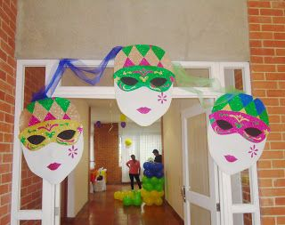 Beula decoraciones, decoracion de eventos tematicos e infantiles: Fiesta mascaras