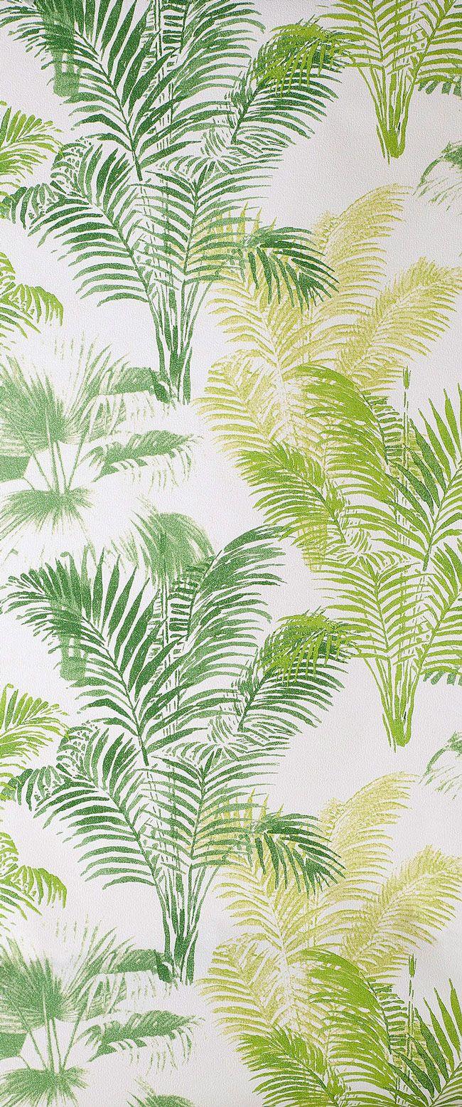 """Adoptez la tendance déco """"jungle""""avec ce papier-peint Palmier et toutes ses nuances de verts."""