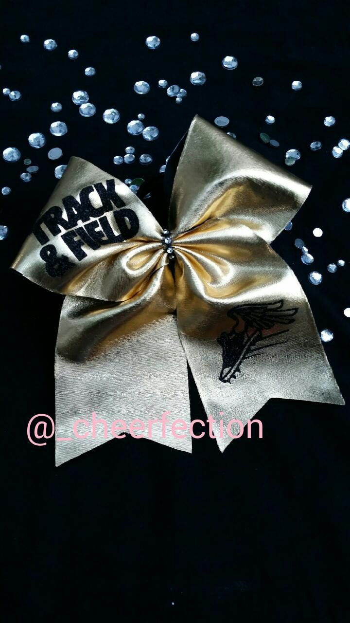 Gold Track & Field 3 Inch Bow by CHEERFECTION on Etsy
