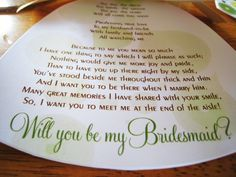 The 25+ best Bridesmaid poems ideas on Pinterest | Bridesmaid ...