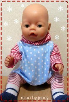 Baby Accessories Freebook Kapuzenpulli und Hose Puppe