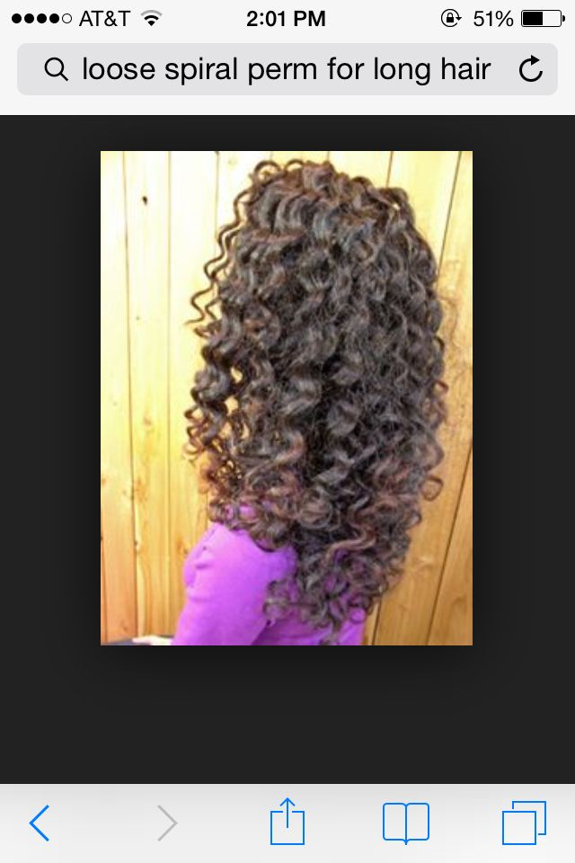 Loose Spiral Perm Hair Projects Pinterest Loose