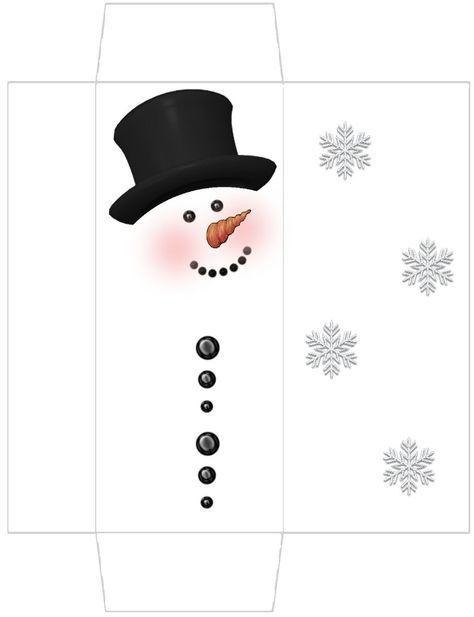 Free Snowman Candy Wrapper Templates | Snowman Candy Bar Box - free