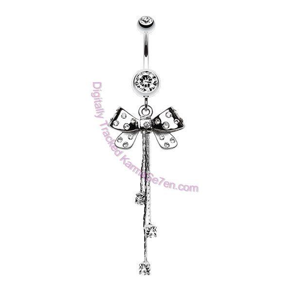 New for Spring - Summer 2015 Fancy Fashion Belly Bars with Extra Long Dangles   www.karmase7en.com. The Buy One Choose One FREE Body Jewellery Shop.