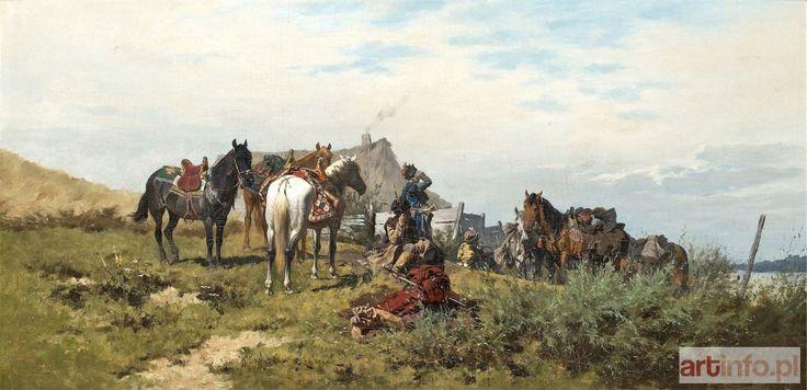 Władysław SZERNER ● NA POPASIE, OK. 1880 ● Aukcja ● Artinfo.pl