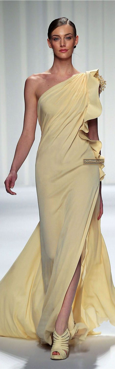 Evening gown, couture, evening dresses, formal and elegant Abed Mahfouz Couture Spring Summer 2013