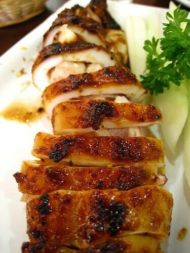Cumi Bali ~ grilled squit balinese