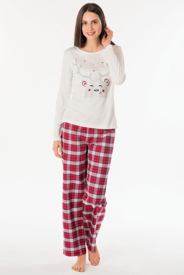 Kom Nina Bayan Pijama Takım 61PJ60331  #BayanPijama #OnlineBayanPijama #2017BayanPijama #BayanGiyim #EvGiyimi #KışlıkBayanPijama #YeniSezon #Sonbahar #markhacom