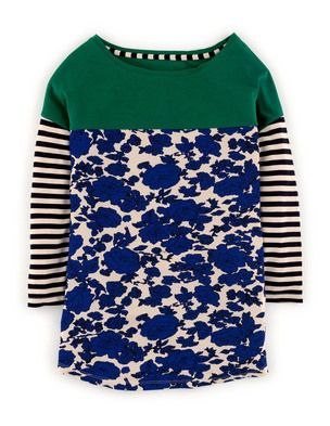 Hotchpotch Tee WL837 3/4 Sleeved Tops at Boden