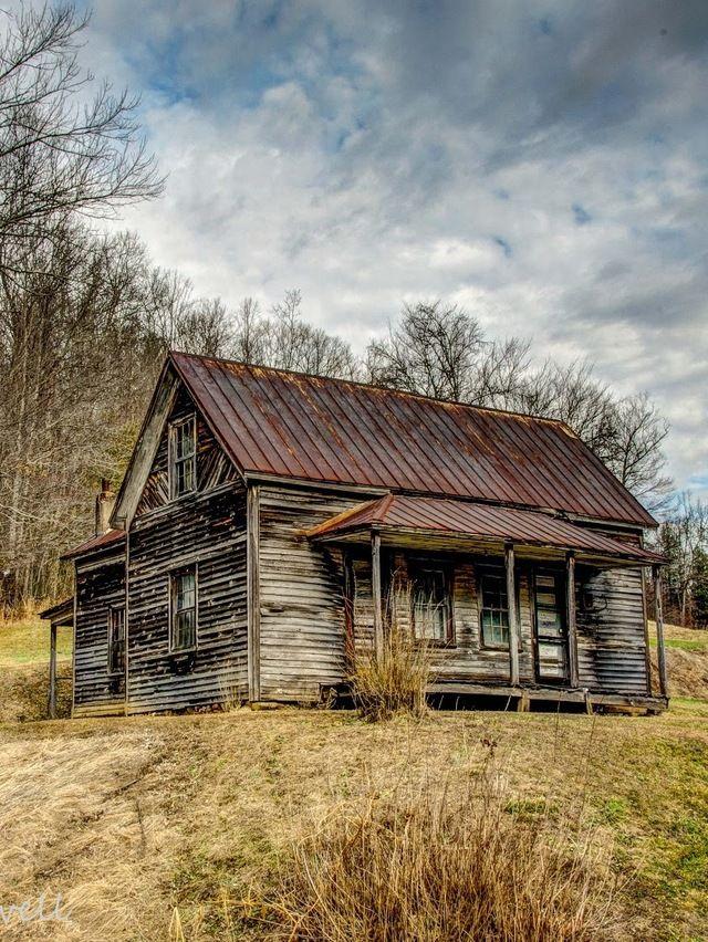 Many Moons Ago Old Farm House