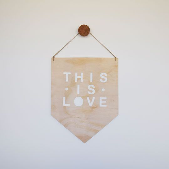 Made By Mee + Co | This Is Love Ply Banner