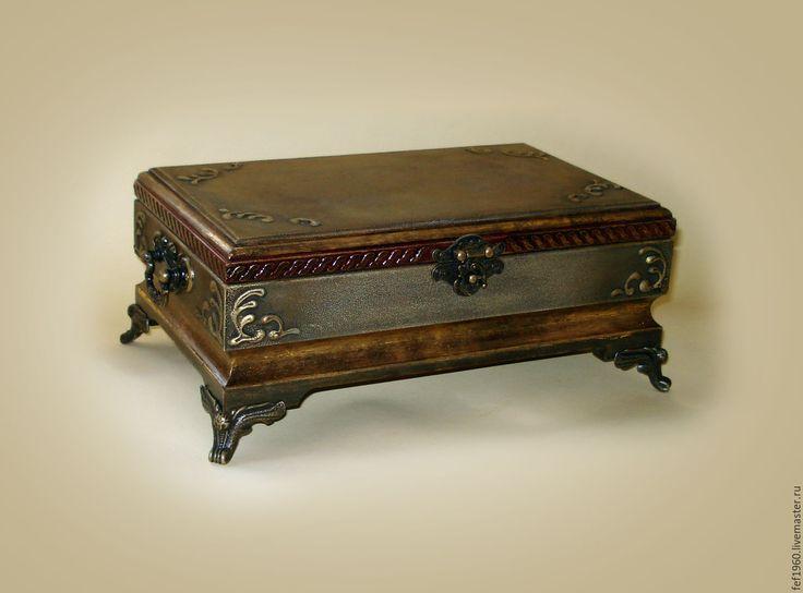 Купить Шкатулка в старинном стиле - хаки, шкатулка старинная, Шкатулка под старину, шкатулка с росписью