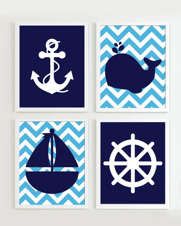 Nautical+Nursery+Navy+and+Light+Blue++Chevron++set+by+PrincessSnap,+$15.00