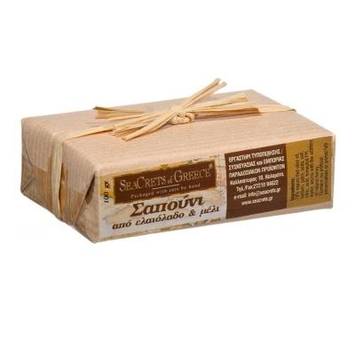 Παραδοσιακό χειροποίητο σαπούνι ελαιολάδου με μέλι 200gr