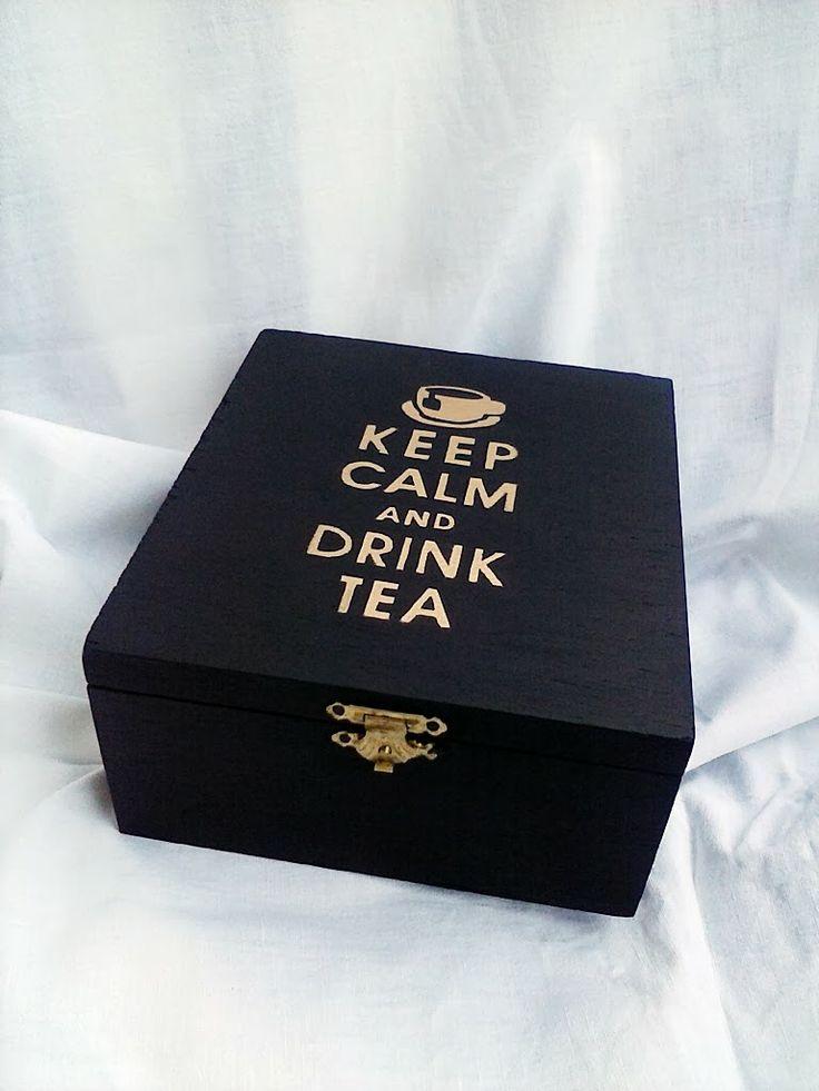 S*factory: Keep calm and drink tea: DIY tea box                                                                                                                                                                                 More