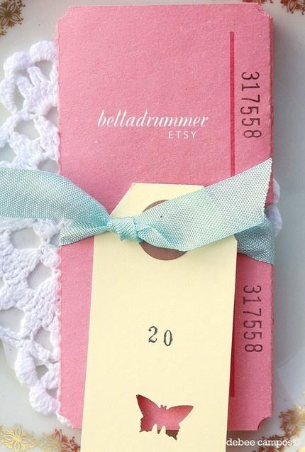 """Large Blank Tickets- Pink"" by belladrummer"