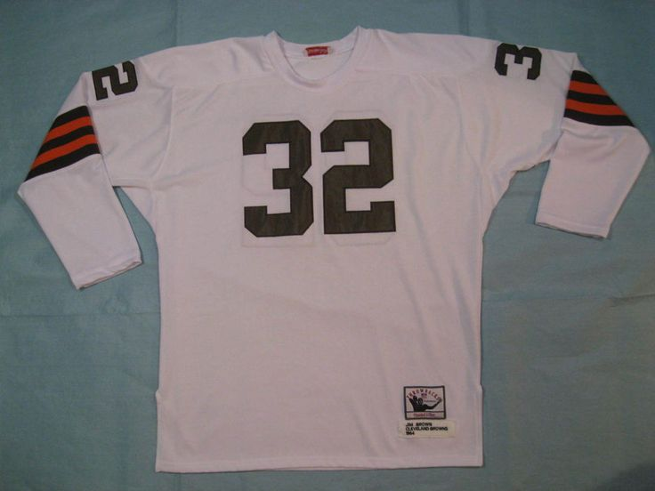 the best attitude 48a52 f9bd1 mitchell and ness cleveland browns 32 jim brown white ...