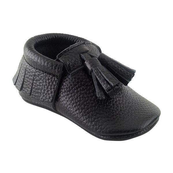 Kız ve erkek bebekler için makosen model ilkadım ayakkabısı.