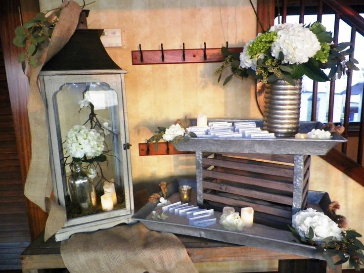 17 best images about projects to try on pinterest rustic for Wedding dinner table decoration ideas