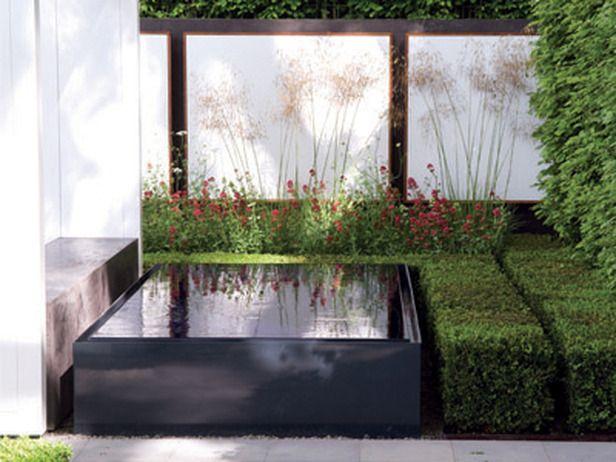 Reflective Pool in a Modern Garden