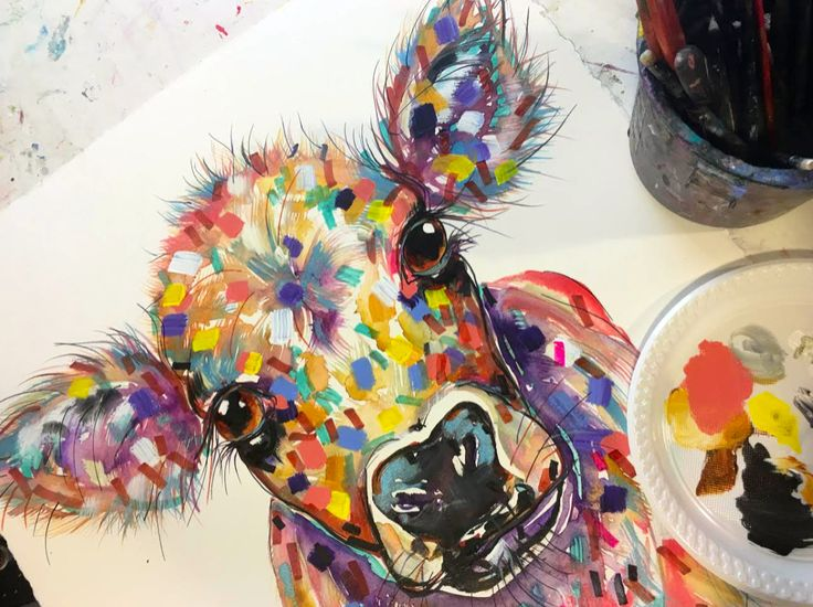 Cow Pet Portraits by Tracey Keller