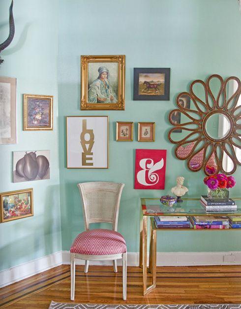 madebygirl blog: Wall Colors, Mirror, Interior, Idea, Gallery Wall, Caitlin Wilson, Design, Room