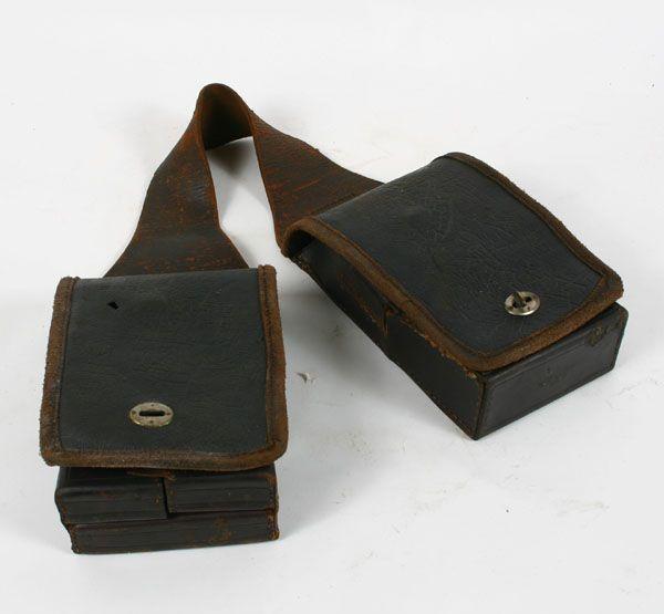 Antique Leather Medical Pharmaceutical Saddle Bag