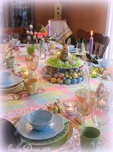 Beautiful Easter Dinner Table Decorations Easter