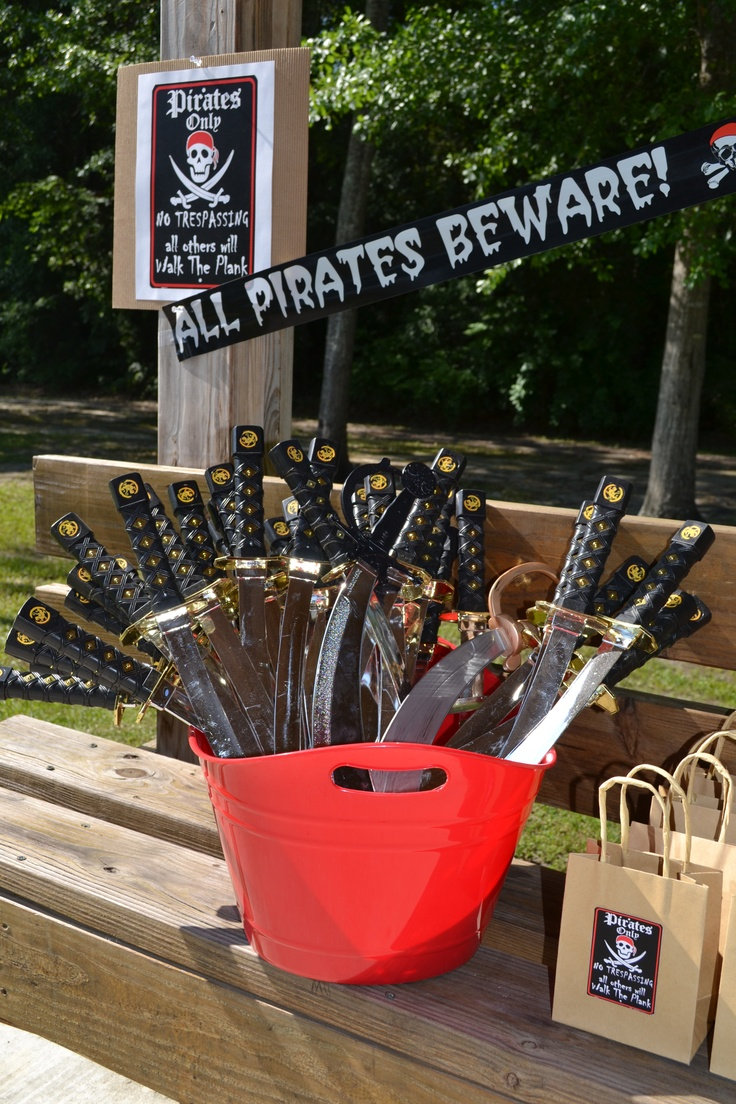 Pirate Party * Swords & Treat Bags