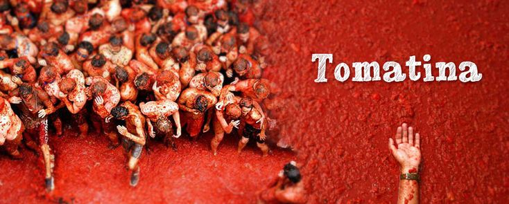 La Tomatina. La Tomatina in Buñol, close to the Spanish city Valencia, is a celebration fight where people have fun with tons of tomatoes. - www.donquijote.org/culture/spain/society/holidays/la-tomatina.asp