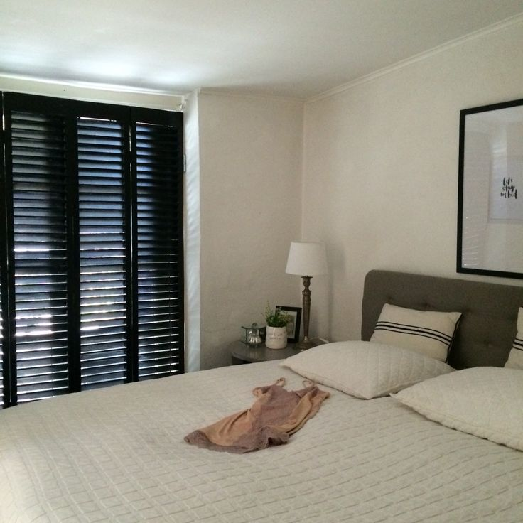 Old shutters made my new bedroom