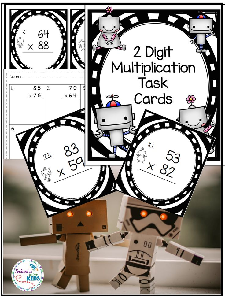 Are your students learning about two digit multiplication? This robot themed resource will keep them practicing! There are several ways to use this resource. Games and printables are included. Resources are included for labeling your center and creating a bulletin board. #math