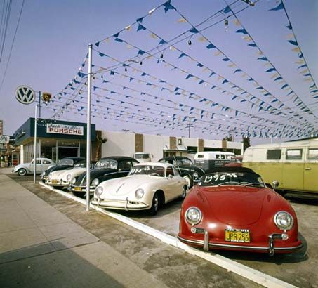 / Vintage Porsche Dealership