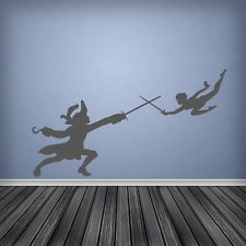 Wall Sticker Peter Pan And Captain Hook Boys Bedroom Nursery