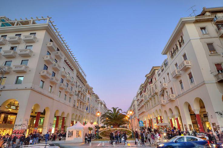 Γιορτινή Πλατεία Αριστοτέλους, Θεσσαλονίκη (Aristotelous Square, Thessaloniki, Greece)