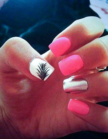 14 best pink nails images on pinterest nail design cute nails hot pink summer nail art prinsesfo Gallery