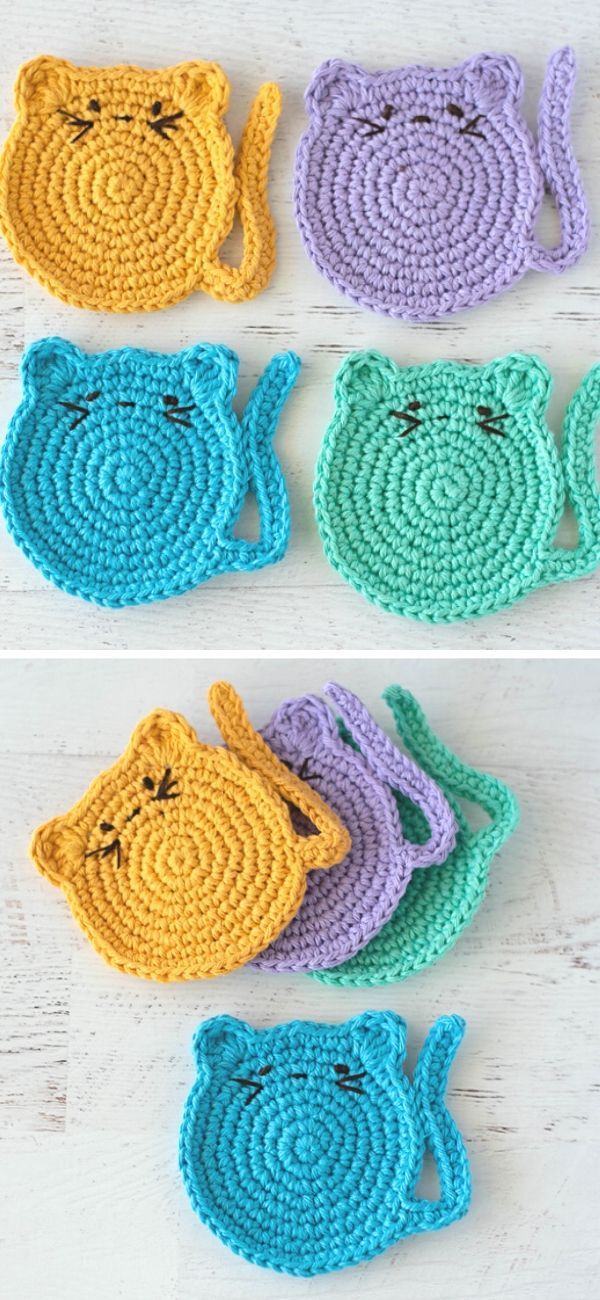 Cat Crochet Pattern Dog Crochet Pattern Potholder | Etsy | 1300x600