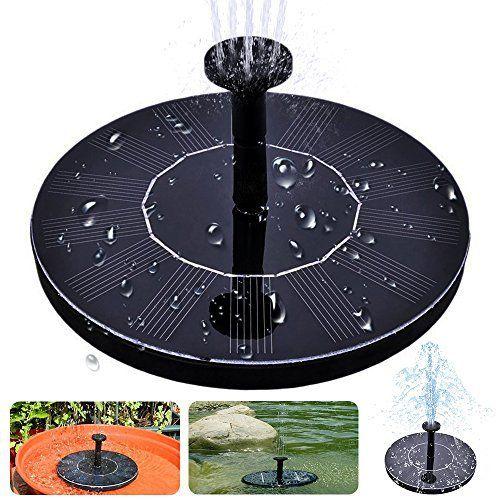 Solar Bird Bath Fountain, maxin Free Standing 1.4W Solar Panel Kit Water Pump, Outdoor Watering Submersible Pump for Bird Bath,Fish Tank,Small Pond, Garden Decoration