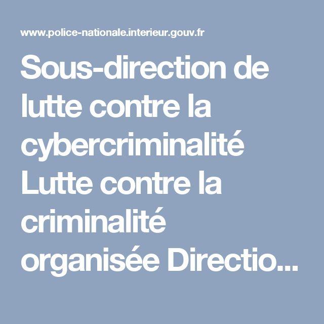 Sous-direction de lutte contre la cybercriminalité Lutte contre la criminalité organisée   Direction Centrale de la Police Judiciaire ; Organisation - Police nationale - Ministère de l'Intérieur