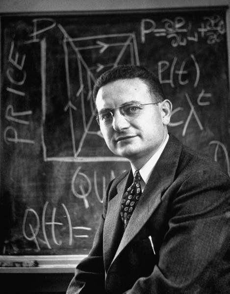 "Paul Samuelson (1915-2009), American economist. ""for the scientific work through which he has developed static and dynamic economic theory and actively contributed to raising the level of analysis in economic science"""