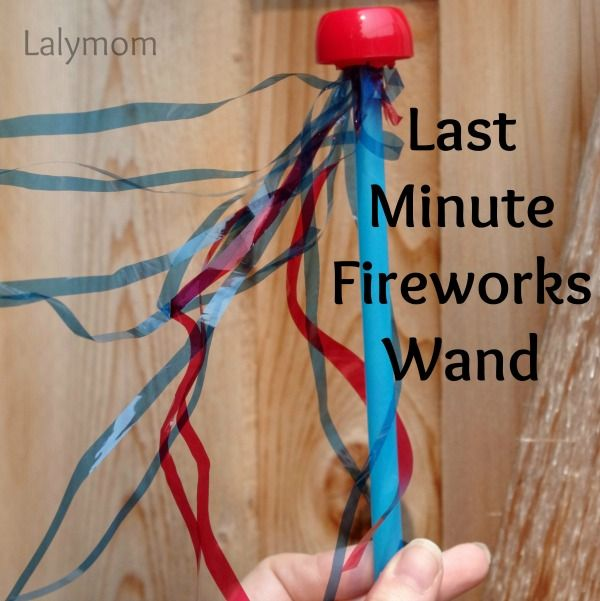 Last Minute Fireworks Wand. Gloucestershire Resource Centre http://www.grcltd.org/scrapstore/