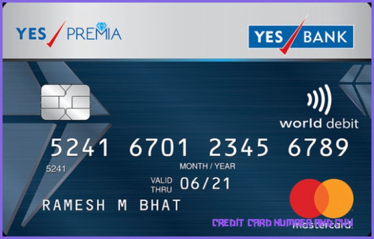 Debit and credit card number cvv and expiry date
