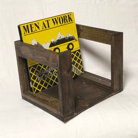 Caisse En Bois Fabriques A La Main Sert De 12 Lp Vinyle Detenteur Du Record Confortablement Detient Jusqua 70 12 Vinyl Record Holder Wood Crates Vinyl Storage