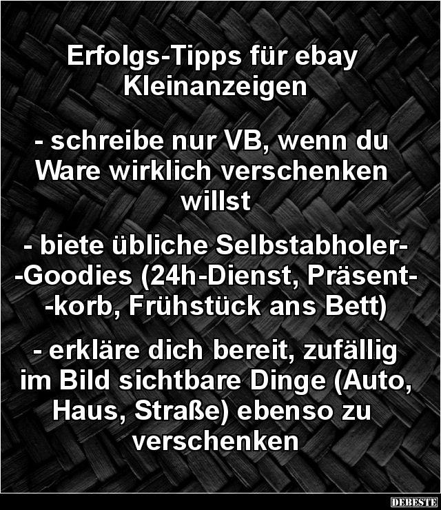 Erfolgs-Tipps für ebay Kleinanzeigen..