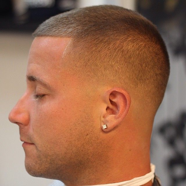Low bald fade to number 1 or 2 on top.