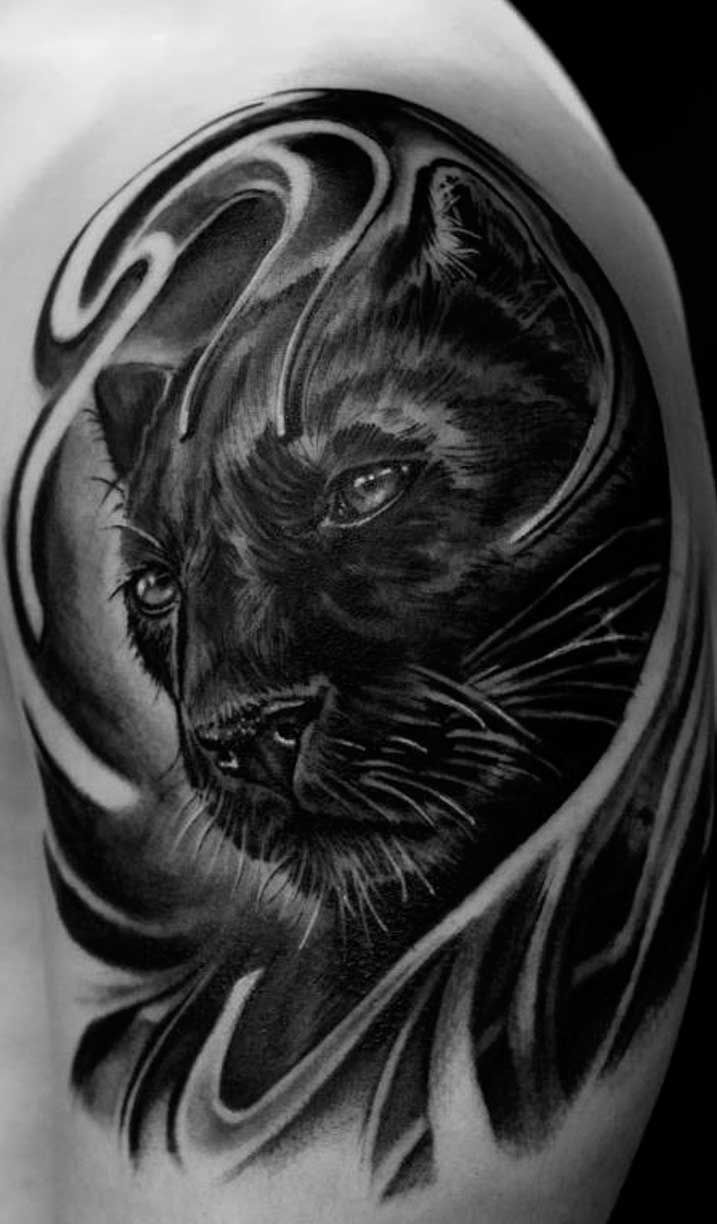 panther tattoos | Black-panther-by-tattoo-neos