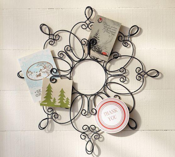 snowflake card holder pottery barn christmas pinterest pottery christmas card holders. Black Bedroom Furniture Sets. Home Design Ideas
